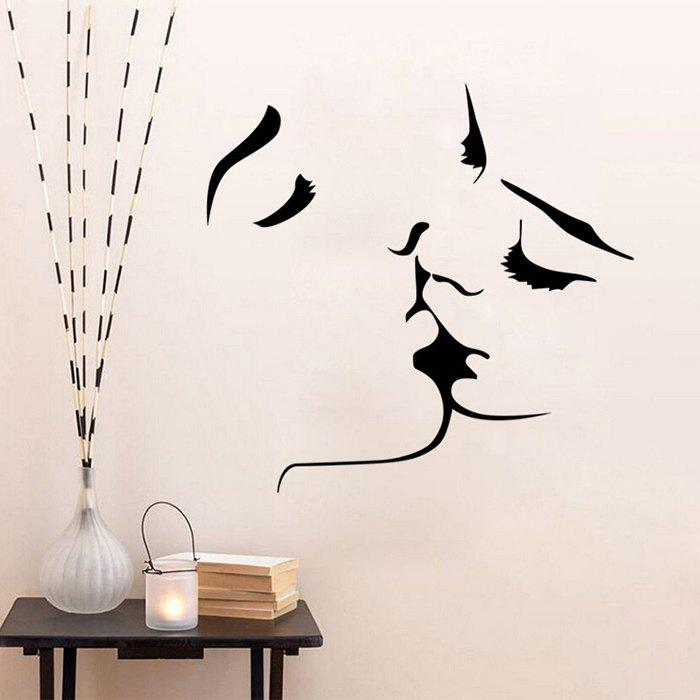 Kiss Removable Wall Art Stickers - BLACK