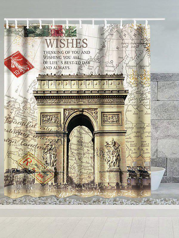 Arch of Triumph France Map Water Resistant Shower Curtain vitesse arch