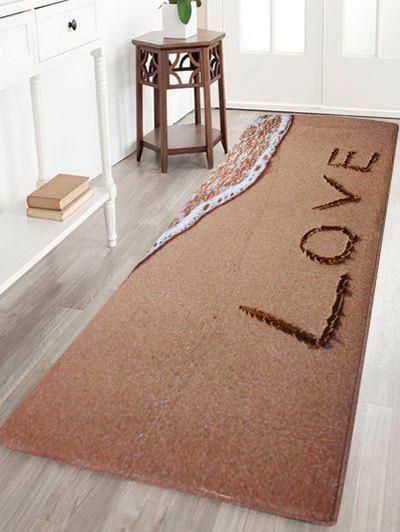 Beach Coral Velvet Soft Absorbent Bathroom Rug Light