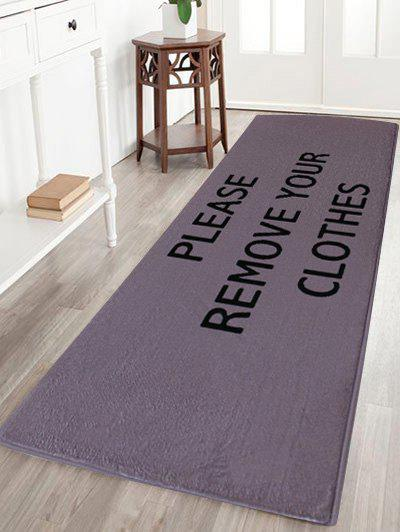 Coral Velvet Absorption Letter Pattern Floor Carpet - LIGHT PURPLE W16 INCH * L47 INCH