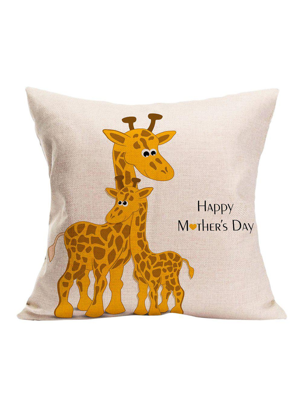 Giraffe Happy Mothers Day Pillow Case OFF WHITE 3 3CM in