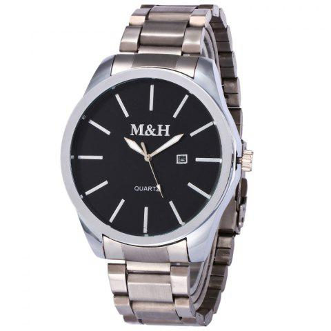 Date Quartz Wrist Watch - BLACK