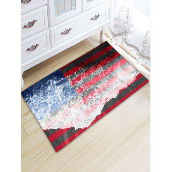 Sea Tide Patriotic American Flag Water Absorption Skidproof Flannel Rug