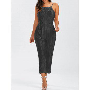Open Back Cami Pleated Jumpsuit