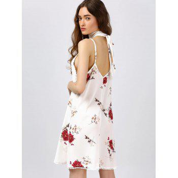 Floral Print Cami Dress - WHITE WHITE