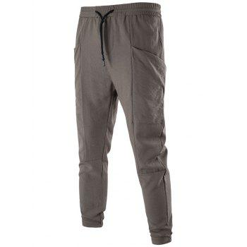 Drawstring Large Pocket Jogger Pants