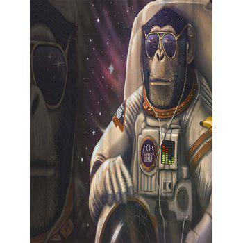 Monkey Astronauts Water Resistant Bathroom Shower Curtain - multicolorCOLOR multicolorCOLOR