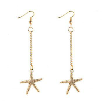 Starfish Chain Earrings