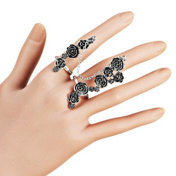 Flower Rose Full Multi Finger Ring