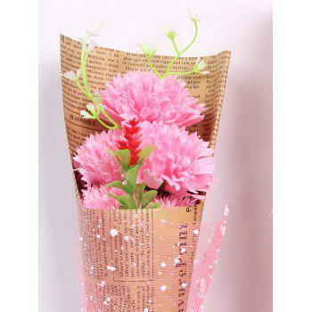 Creative Mother's Day Gift Soap Carnation 5PCS Artificial Flowers - PINK