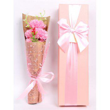 Creative Mother's Day Gift Soap Carnation 5PCS Artificial Flowers - PINK PINK