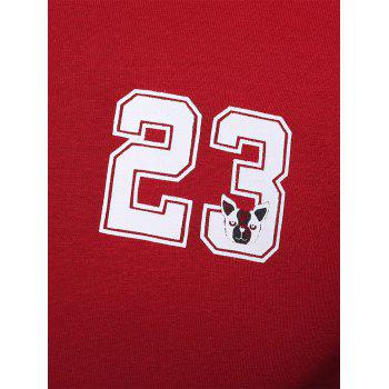 Color Block 23 Graphic Printed Tee - RED 5XL