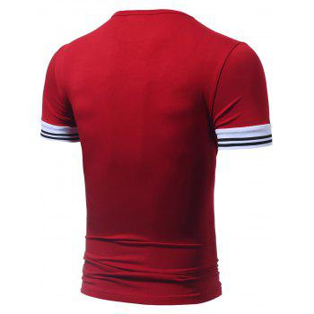 Color Block 23 Graphic Printed Tee - RED RED
