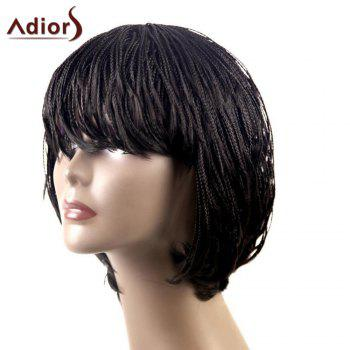 Adiors Braid Lace Short Side Bang Bob Synthetic Wig