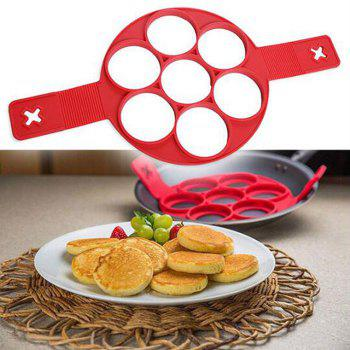 Round Silicone Cake Baking Mould - RED