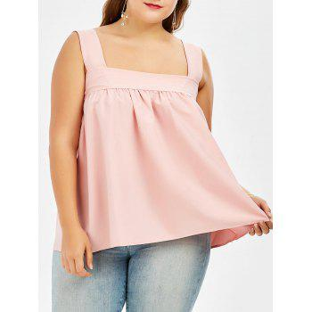 Square Neck Plus Size Dressy Tank Top