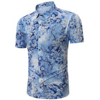 All Over Floral Print Short Sleeves Shirt