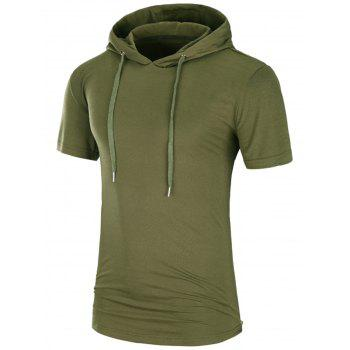 Hooded Side Zipper Longline T-Shirt