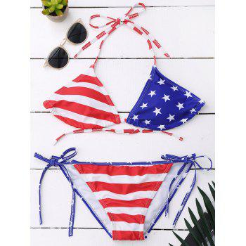 American Flag Patriotic String Swimwear