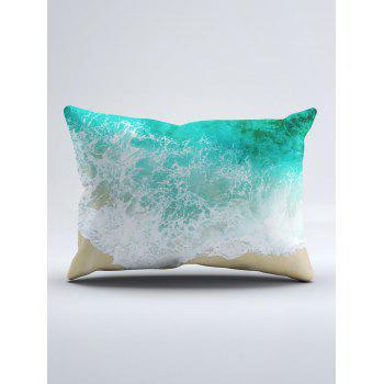 Sea Tide Two Side Printing Washable Duvet Cover and Pillowcase - SEA GREEN TWIN