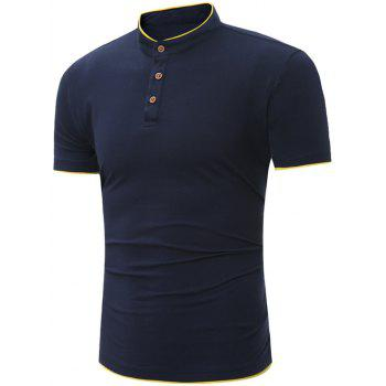 Grandad Collar Short Sleeve Polo Shirt