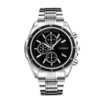 Alloy Strap Number Wrist Quartz Watch