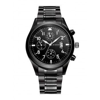 Number Date Stainless Steel Quartz Wrist Watch
