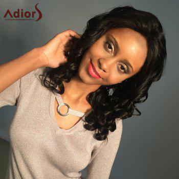 Adiors Long Shaggy Dyeable Permed Loose Wave Lace Front Synthetic Wig