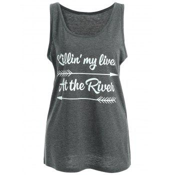 Arrow At The River Graphic Tank Top