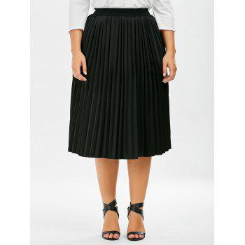 Plus Size Sparkly Midi Pleated Skirt