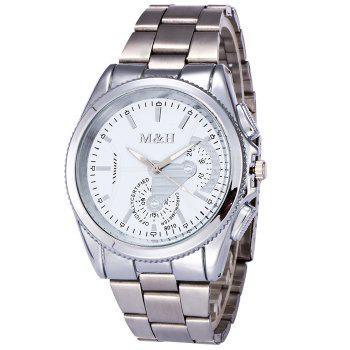 Metallic Strap Quartz Wrist Watch