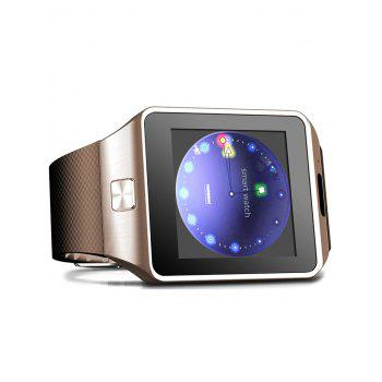 DZ09 Montre intelligente Bluetooth avec podomètre moniteur de sommeil Single SIM - Or