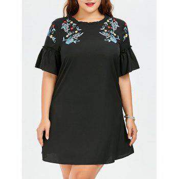 Embroidered Plus Size Dress