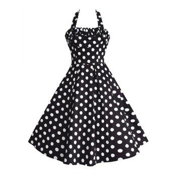 Halter Backless Vintage Swing Dress