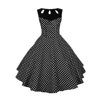 Polka Dot Cut Out Vintage Dress