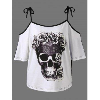 Cold Shoulder Skull 3D Print T-Shirt