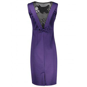 Butterfly Knee Length Sheath Dress