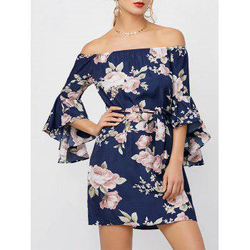Off The Shoulder Floral Cocktail Dress