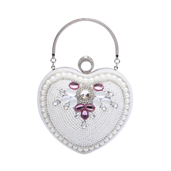 Beading Heart Shaped Evening Bag