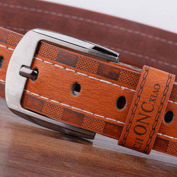 Pin Buckle Choncxiao Retro Wide Belt -  COFFEE