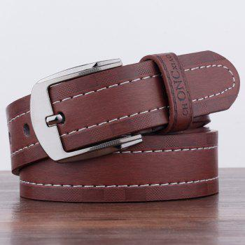Pin Buckle Choncxiao Retro Wide Belt - COFFEE COFFEE
