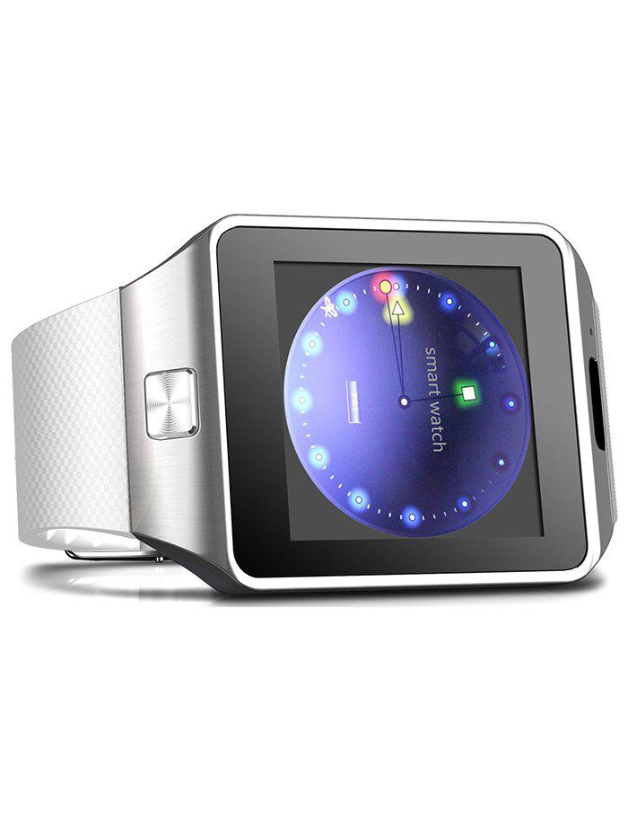 DZ09 Bluetooth Smart Watch with Sleep Monitor Pedometer Single SIM - WHITE