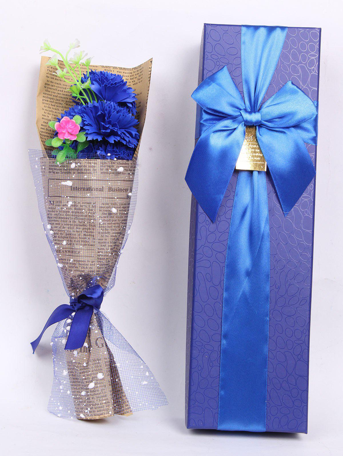 Creative Mother's Day Gift Soap Carnation 5PCS Artificial Flowers - ROYAL
