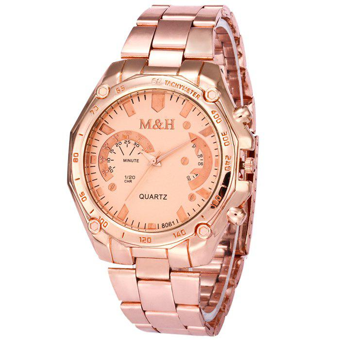 Steel Strap Tachymeter Quartz Watch - ROSE GOLD