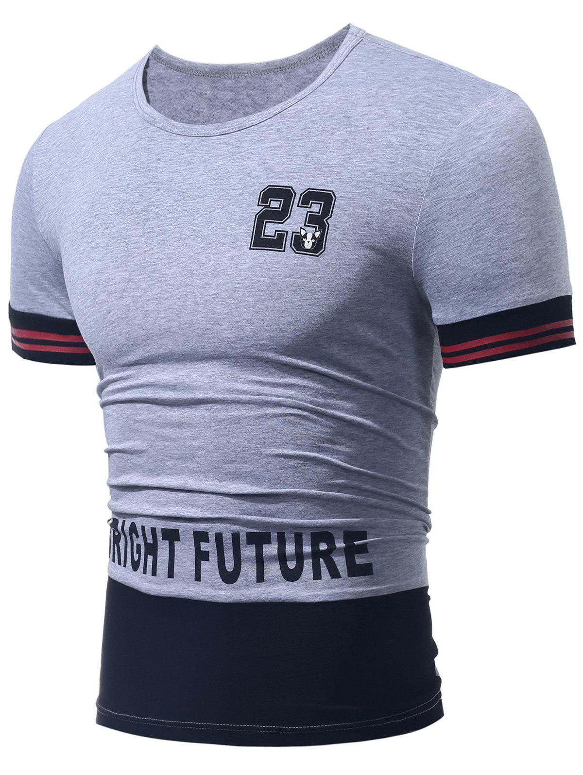 Color Block 23 Graphic Printed Tee
