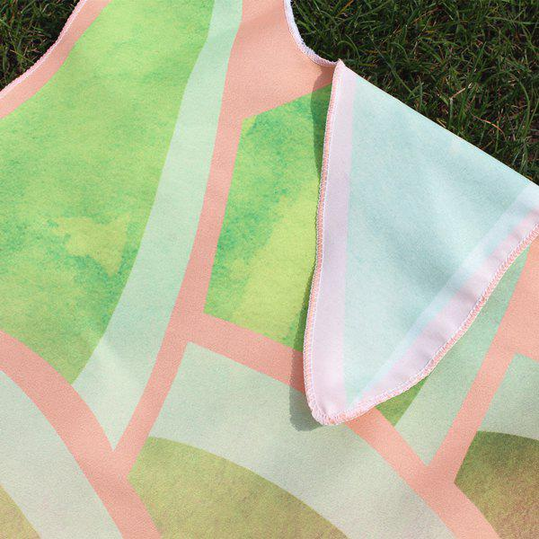 Cutting Pineapple Shape Ombre Beach Throw - PINK