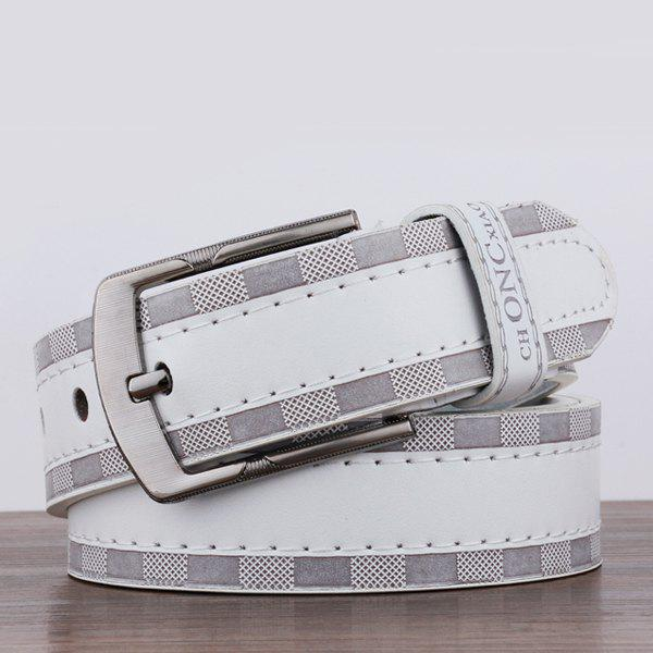 Pin Buckle Choncxiao Retro Wide Belt - WHITE