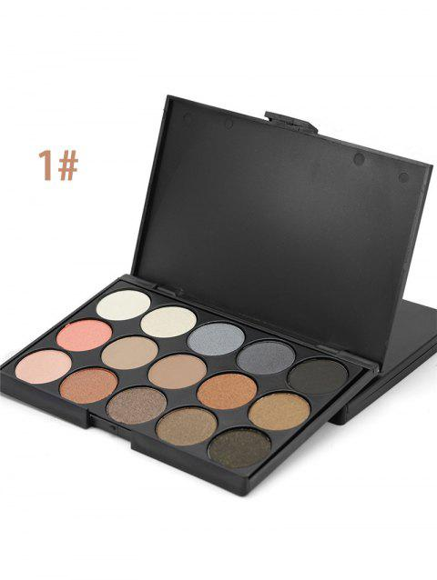 15 Colours Shimmer Matte Eyeshadow Palette - 01