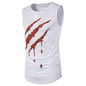 3D Blood Print Novelty Longline Tank Top