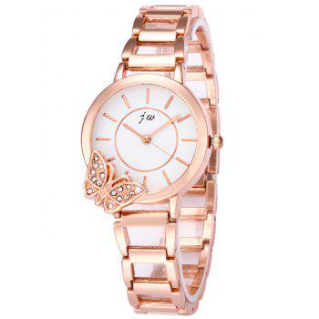JW Rhinestone Butterfly Quartz Wrist Watch